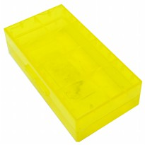 Nitecore Transparent Battery Case for 2x18650 - Yellow