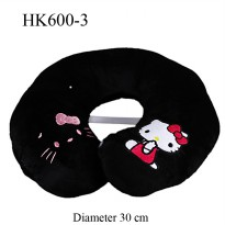 Bantal U bordir hello kitty Hitam HK600-3 SJ0034