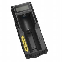 NITECORE Universal Battery Charger 1 Slot for Li-ion with LCD - UM10 - Black