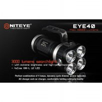 Niteye EYE40 Senter LED CREE XM-L U2 3000 Lumens - Black