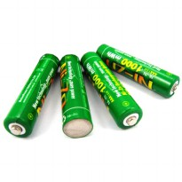 Enelong BPI Ni-ZN AAA Battery 1000mWh with Button Top 4 PCS - Green