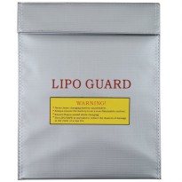Generic RC LiPo Battery Safety Guard Charge Bag 29 x 22.5 cm - AA401 - Silver