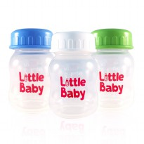 LITTLE BABY BREASTMILK STORAGE BOOTLE/ BOTOL ASI BAYI 60ML Isi 4