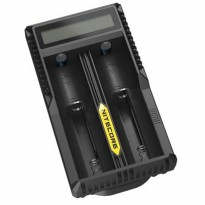 NITECORE Universal Battery Charger Dual Slot for Li-ion with High Definition LCD - UM20 - Black