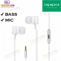 Twelven Handsfree For Oppo - Powerfull Bass Tuning Earphone - Putih