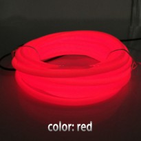 Lampu Dekorasi Mobil Motor LED Neon 5.0mm 3 Meter - Red