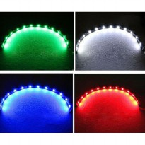 LED Strip Lampu Depan Mobil Waterproof 5W 15SMD 3528 30CM - 2 Strip - Red