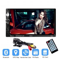 MP5 Media Player Monitor Mobil LCD Touchscreen 7 Inch with Rear View Camera - Black