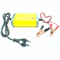 Portable Motorcrycle Car Battery Charger 12V/2A - Yellow