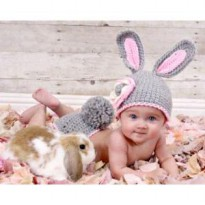 Kostum Bayi / Baby Costume Kelinci Baby Newborn Crochet Rabbit Cute For Photography