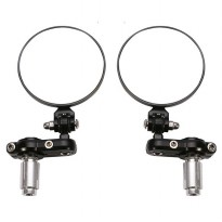 Kaca Spion Motor Model Bulat 7/8 inch - Black