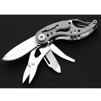 Pisau EDC Multifungsi Stainless Steel - MKA4-02 - Black