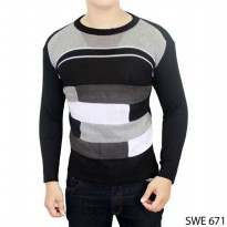 Sweater Fashion Male Rajut Hitam Kombinasi – SWE 671