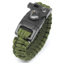 Paracord Survival Bracelet with Magnesium Fire Starter And Compass - Camouflage