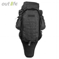 Tas Ransel Outdoor Hiking Camping Military 60L - Black