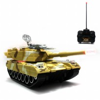 Mainan Remote Control RC Tank Brown Hunter Special Edition