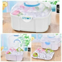 Crown easy Steril Rak Botol Travel / Rak Pengering Botol Susu dan Dot
