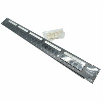 Cat3 RJ11 Telepon Patch Panel 25 Port for 1U 19 Inch Server Rack - Black