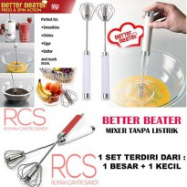 BETTER BEATER ~ PENGOCOK TELUR ~ MIXER MANUAL ~ 1 set 2 pcs