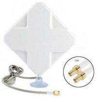 4G LTE MIMO External Antenna for Modem Routers - Dual TS9 Connector - White