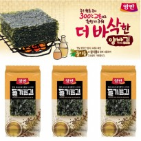 DONGWON YANGBAN ROASTED SEAWEED WITH PERILLA OIL 9 PACK