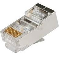 Kepala LAN RJ45 Cat6 Shielded 1PCS - Transparent