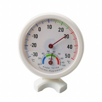 Analog Thermometer Hygrometer Temperature Humidity Monitor - TH-108 - White