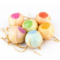 Bath Bombs Salt Sabun Mandi Bathtube Bubble Essential Oil 6PCS - Multi-Color