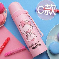 Botol Thermos Lucu Stainless Steel 500ML - Pink
