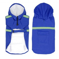 Jaket Anti Hujan Anjing Waterproof Size M - Blue