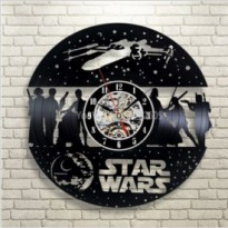 Jam Dinding 3D Hollow Model Star Wars 01 - Black
