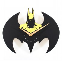 Jam Dinding Quartz Creative Design Model Batman - Yellow