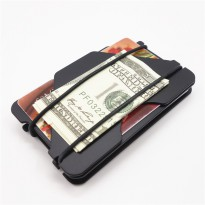 Dompet Kartu Money Clip Pembuka Tutup Botol Metal 3 Layer - Black