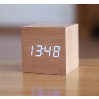Jam Digital LED Kayu - JK-808 - Brown