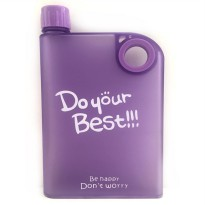 Memobottle Botol Minum Flat 380ml - Matte Purple