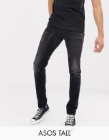 ASOS DESIGN Tall 12.5oz skinny jeans in washed black