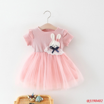 Dress Bayi Rabbit / Gaun Pesta Bayi / Dress Anak Balita / BJ190402 / Baju Dress Baby Girl