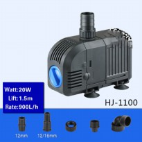 Pompa Air Aquarium Ikan Quiet Submersible Pump Fish Tank 20W - HJ-1100 - Black