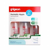 PAKET SPECIAL PIGEON PP KP BOTTLE / BOTOL SUSU DOT - COLOUR 240ML