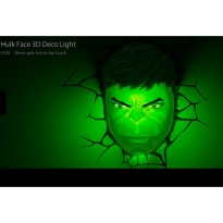 PREMIUM 3D Deco Light Hulk Head Original License Marvel