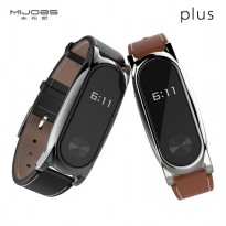 Xiaomi Mi Band 2 Strap / Band Genuine Leather Kulit Asli Mijobs Plus