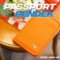 Passport Holder Pendek - Cover Pasport Wallet - ID Card - Travel Oganizer - Buku Document - BGD-43