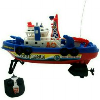 Mainan RC Kapal Fire Boat Light N Sound
