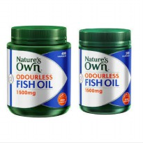 Nature's Own Odourless Fish Oil 1500 mg - 600 Kapsul