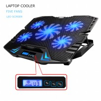 Cooling Pad Laptop 5 Fan - Black/Blue
