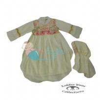 Kiddie Wear Moslem Fakhira Size 2 Color White For Girls Age 3YR - 4YR