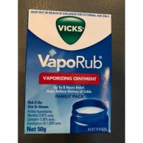 Vicks Vaporub Import 50Gram SKU#29742