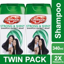 TWIN PACK - LIFEBUOY SHAMPOO STRONG & SHINY 340ML