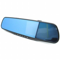 Kaca Spion Rear View DVR Dual Kamera 1080P 4.3 Inch Display - Black