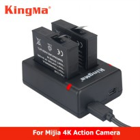 KingMa Charger Baterai Travel + 2 x Baterai for Xiaomi Mijia 4K - RLDC01FM - Black